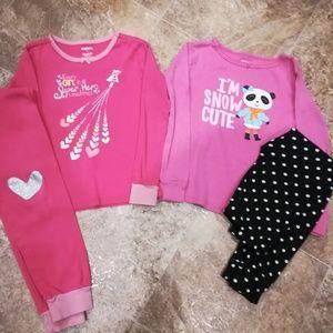 2 pairs pajamas- Gymboree & Carter's